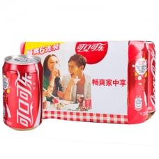 可口可乐 汽水330ml*6(六联包)