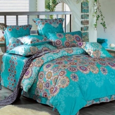 阿思家家纺 纯棉高支高密贡缎四件套 床单被套4件套 海派甜心