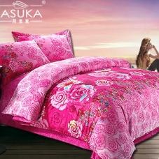 阿思家家纺 纯棉斜纹四件套 床单床品套件1.5