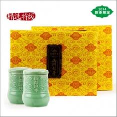 【顶峰】2015新茶预售 明前西湖龙井茶特级精选龙泉青瓷250g