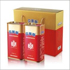 西班牙进口【贝蒂斯】特级初榨橄榄油1000ml*2礼盒