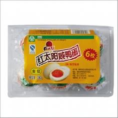 红太阳牌 熟咸鸭蛋 奎级65克  6枚塑盒390克