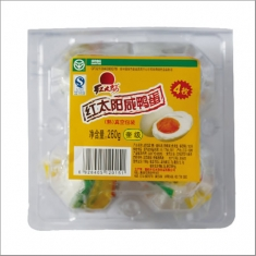 红太阳牌 熟咸鸭蛋 奎级65克  4枚塑盒 260克