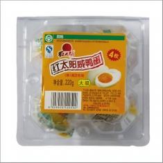 红太阳牌 熟咸鸭蛋 大级55克  4枚塑盒 220克
