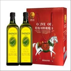 原装进口【米诺斯】特级初榨橄榄油1000ml*2瑞马礼盒
